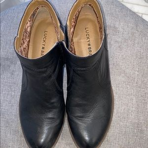 Real Leather Lucky Brand Booties